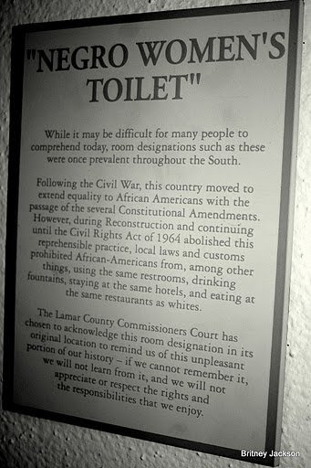 Negro Women's Toilet