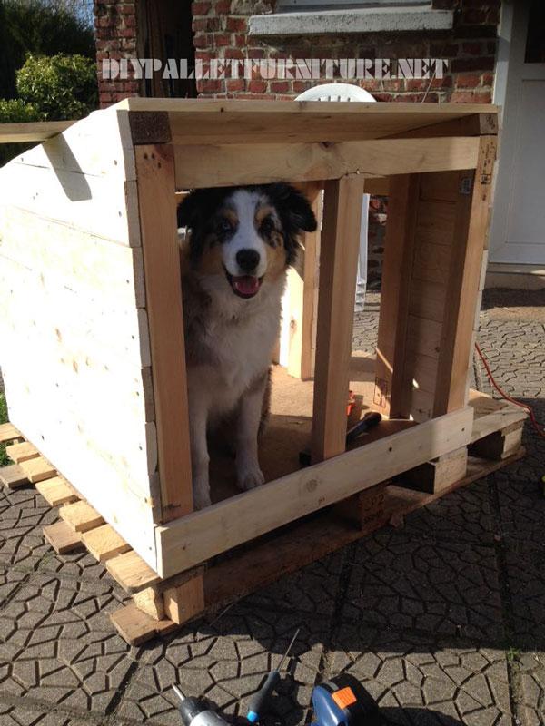 Casa - Casa de perro con palets ...