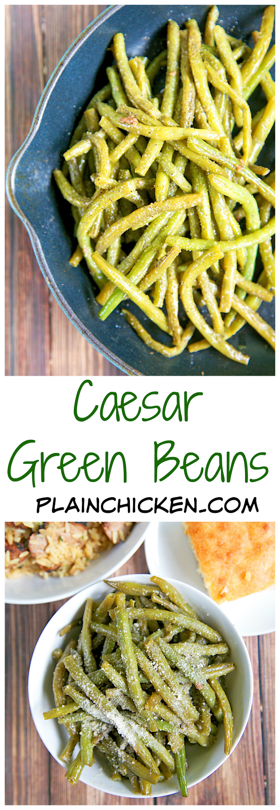 Caesar Green Beans Recipe - quick and easy side dish - only 3 ...