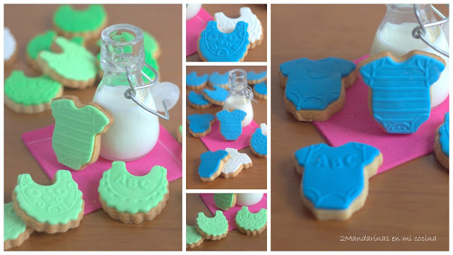 Galletas para bebé decoradas con fondant