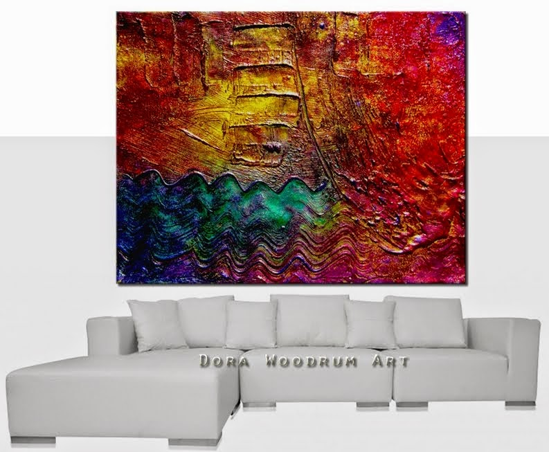 "Abstract Painting ""Deep Thought"" by Dora Woodrum"