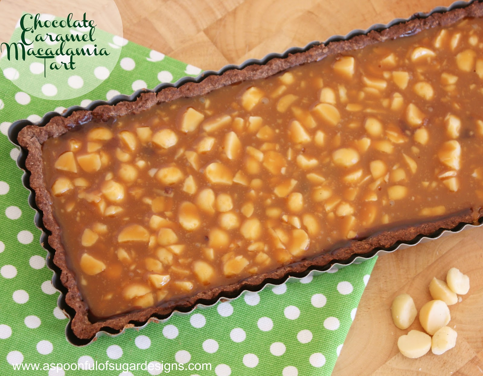 chocolate caramel macadamia tart ingredients 1 2 cup macadamia nuts ...
