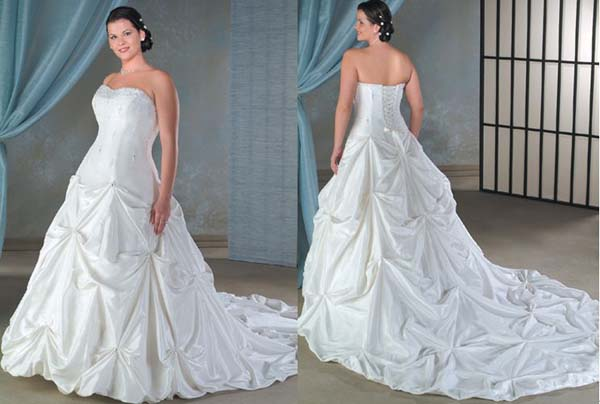 Best plus size wedding dress designers back and front view - Best ...