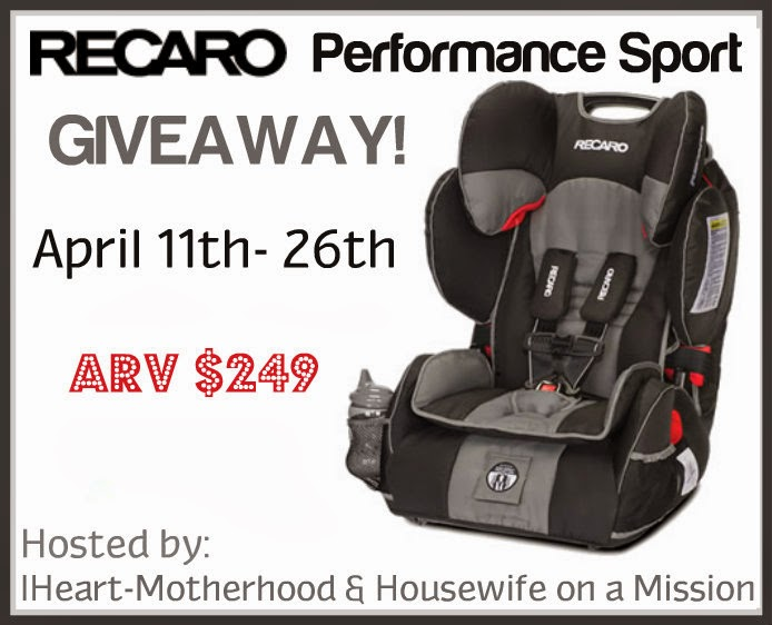 The Story Of Three: RECARO Performance Sport Review and Giveaway