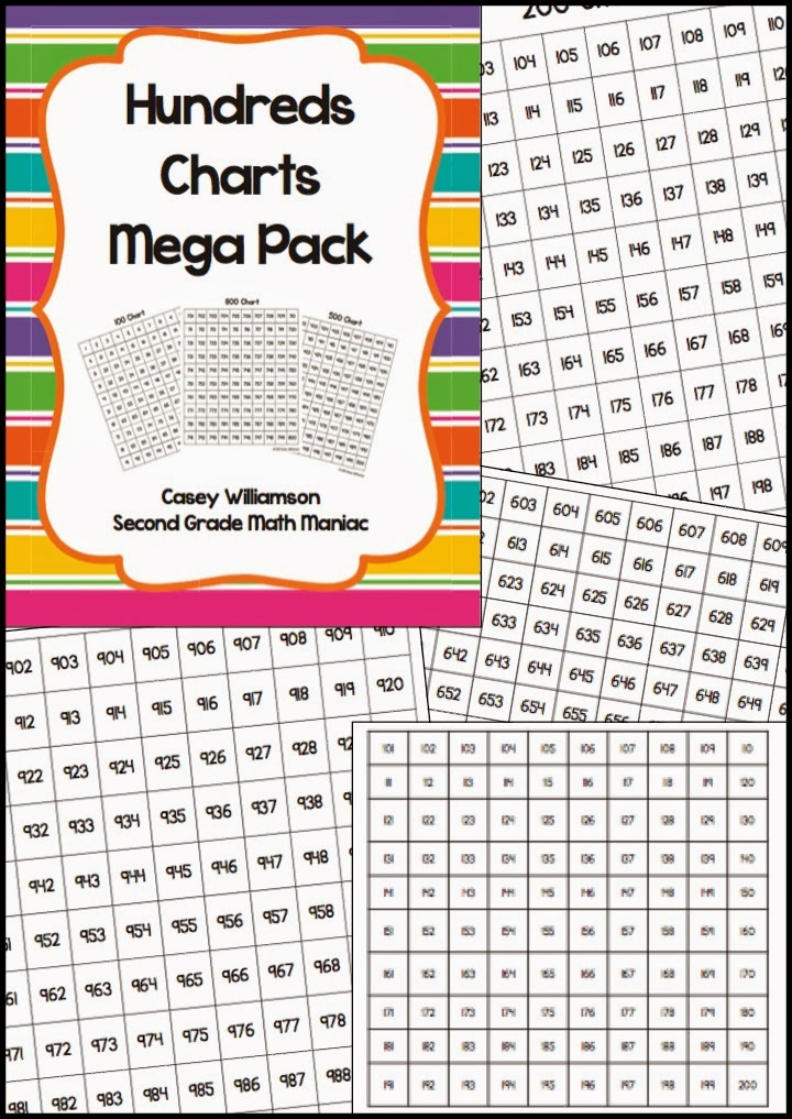 http://www.teacherspayteachers.com/Product/Hundreds-Charts-Mega-Pack-1-1000-199688