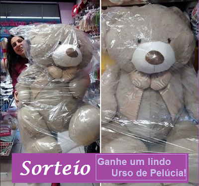 Participe do Sorteio de Um Urso de Pelúcia Tamanho Família