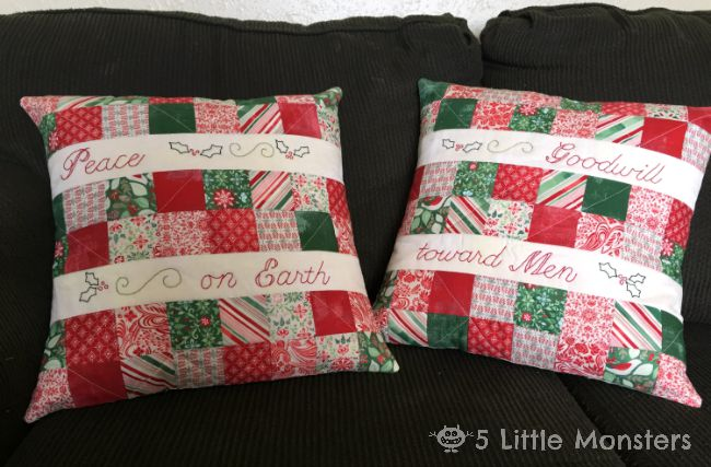 Christmas in July Quilted Patchwork Pillows. My name is Erica and my blog is 5 Little Monsters. On my blog you will find lots of free crochet patterns ... & Fort Worth Fabric Studio: Christmas in July Quilted Patchwork ... pillowsntoast.com