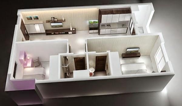 Căn hộ số 06 chung cư HH1A Linh Đàm 2 phòng ngủ - 0917078221