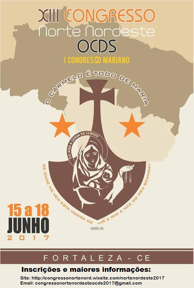 XIII Congresso Norte/Nordeste da OCDS - I Congresso Mariano da OCDS