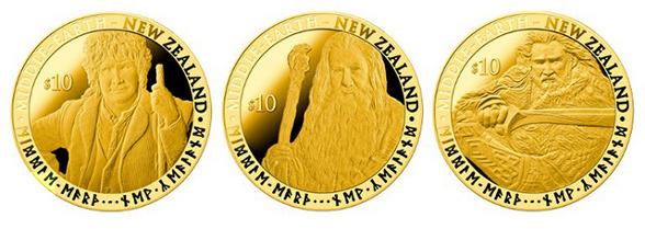 Monedas conmemorativas de 'El Hobbit: un viaje inesperado', de Peter Jackson