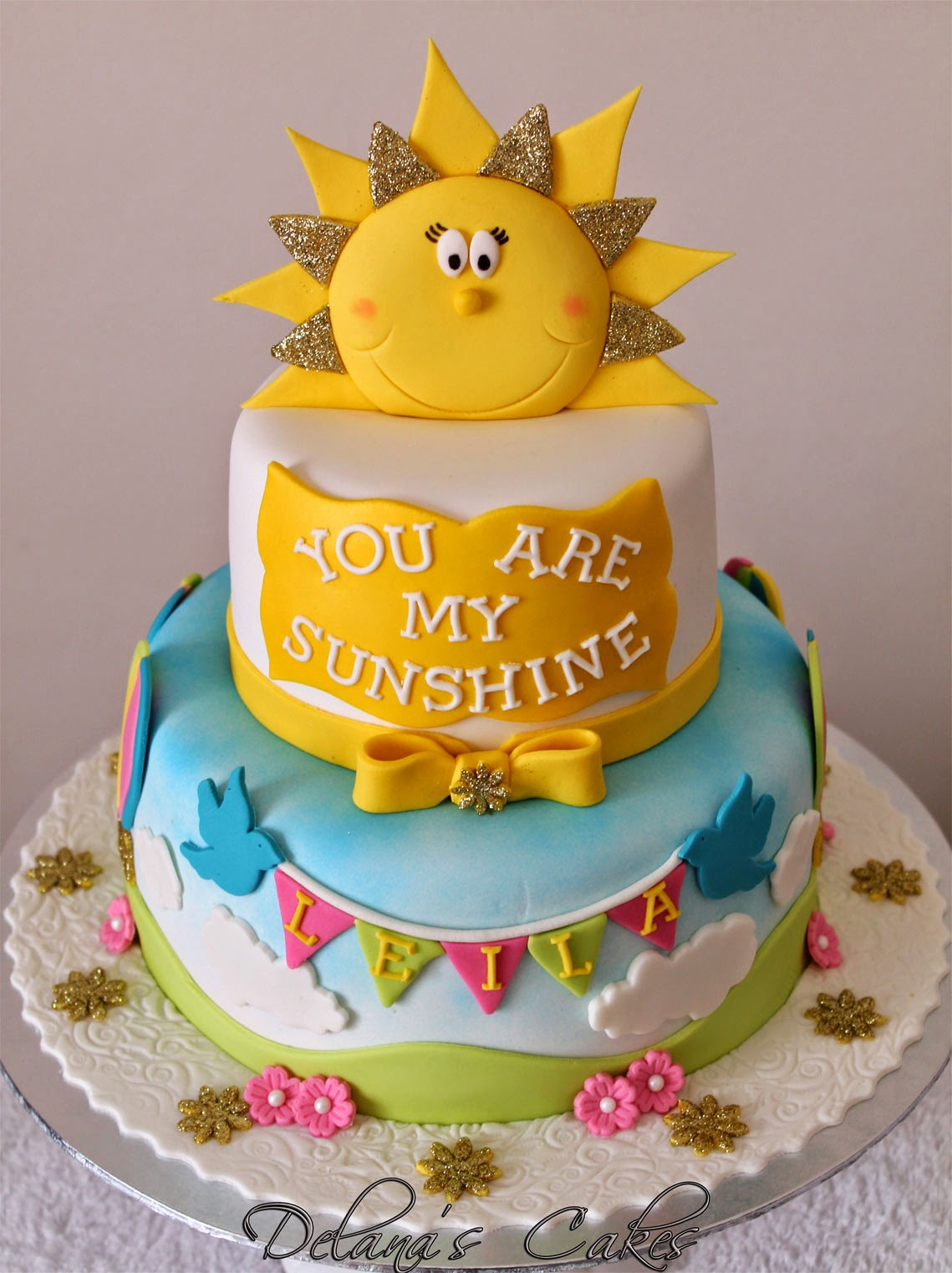 Delana\'s Cakes: You are my Sunshine Cake