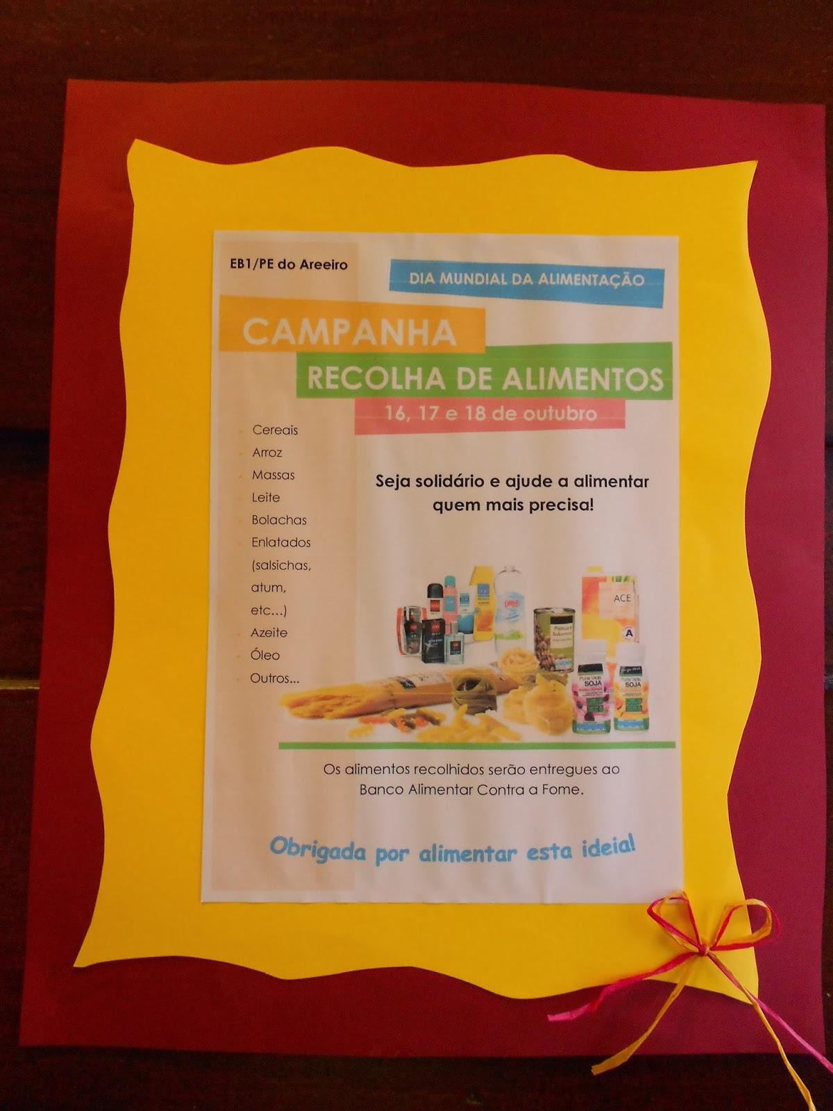 Blogue da eb1 pe do areeiro campanha de recolha de alimentos - Banco de alimentos wikipedia ...