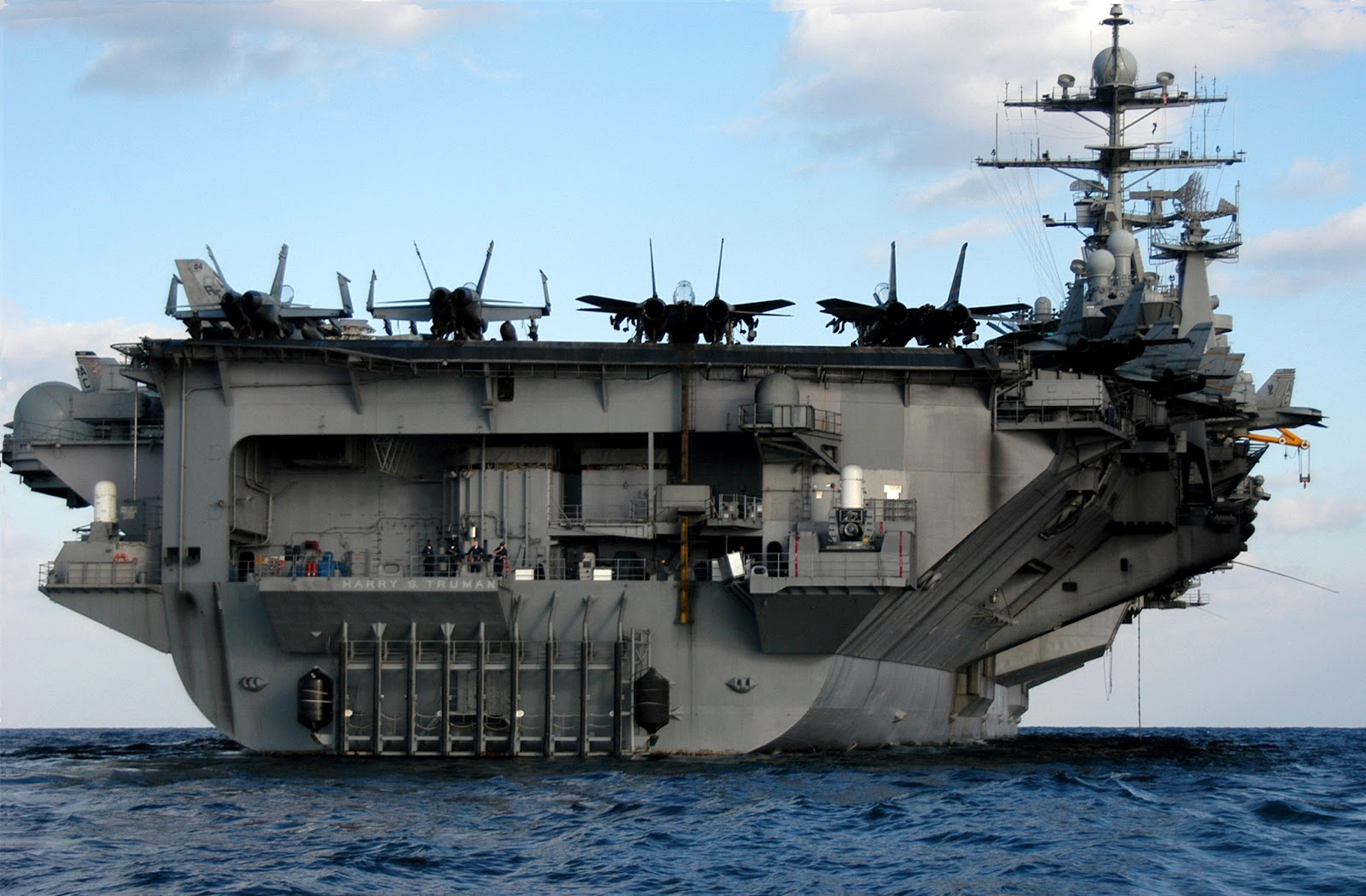 uss harry s truman cvn 75 is the ninth nuclear powered aircraft carrier and the eighth in the nimitz class the keel was laid by newport news