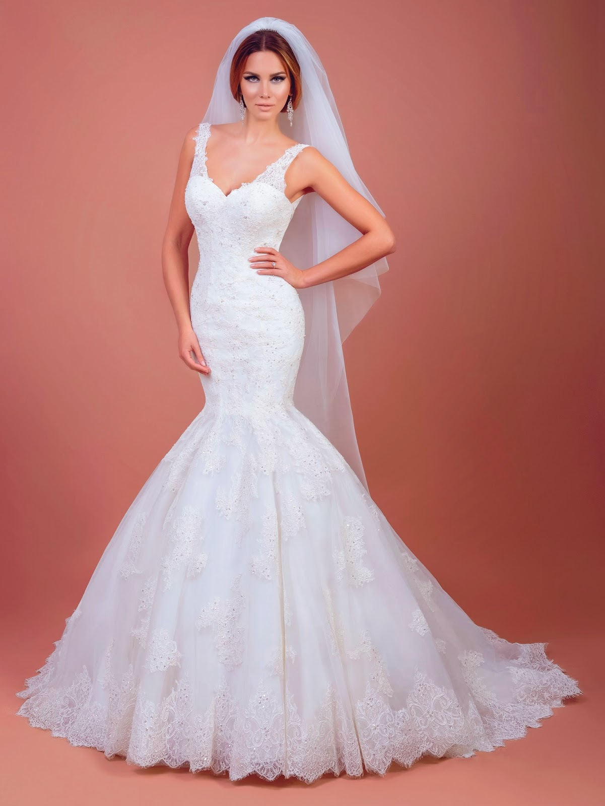 Amanda, open back mermaid wedding dress, by Bien Savvy, Love Me Forever 2015