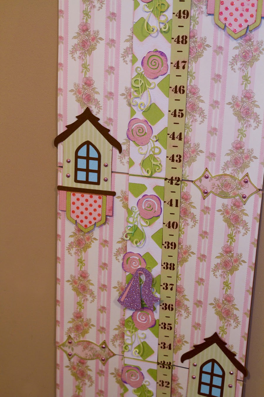 Close up of growth chart