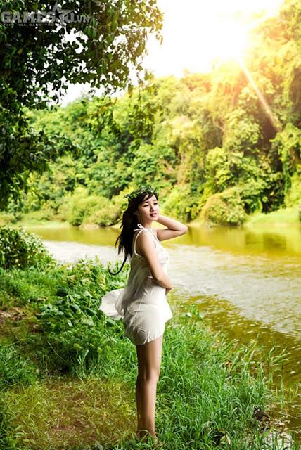 Ngọc Trần bán khỏa thân mộng mơ trong rừng 10