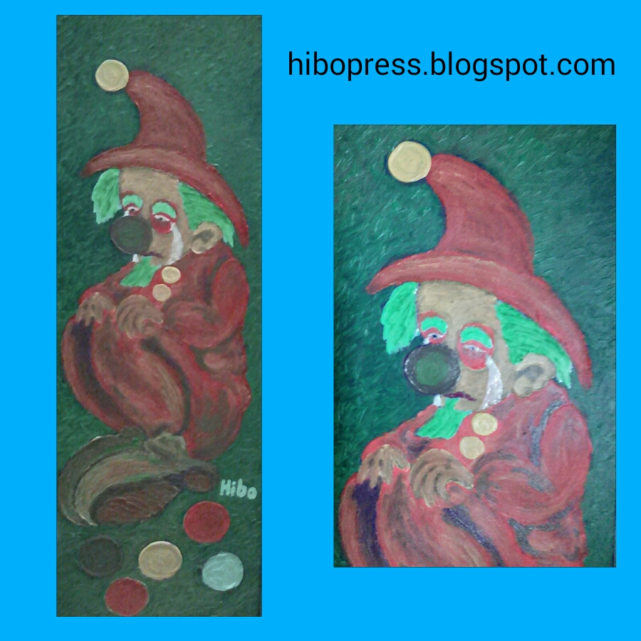 A painting entitled: The acrobatic sad .. For sale/لوحة فنية بعنوان : البهلوان الحزين .. للبيع