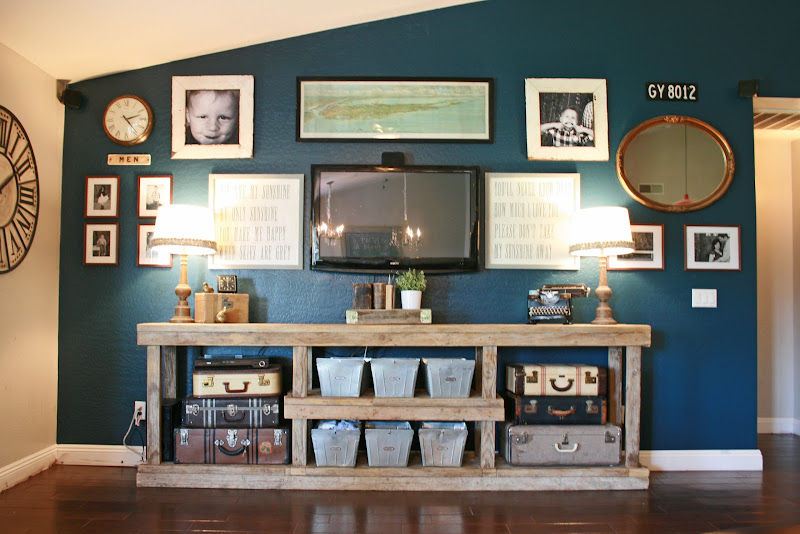 Flat Screen TV Wall Console