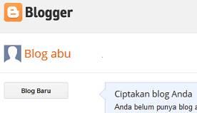 cara buat blog baru blogspot