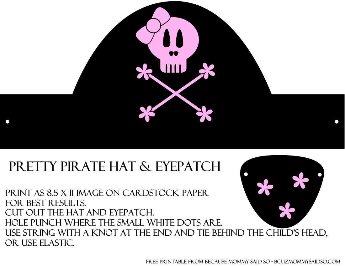 It is a photo of Playful Printable Pirate Hat