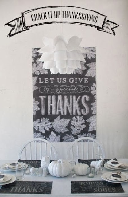Chalkboard Modern Thanksgiving