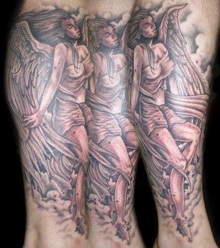 angel tattoos design part 1 3d tattoos images. Black Bedroom Furniture Sets. Home Design Ideas
