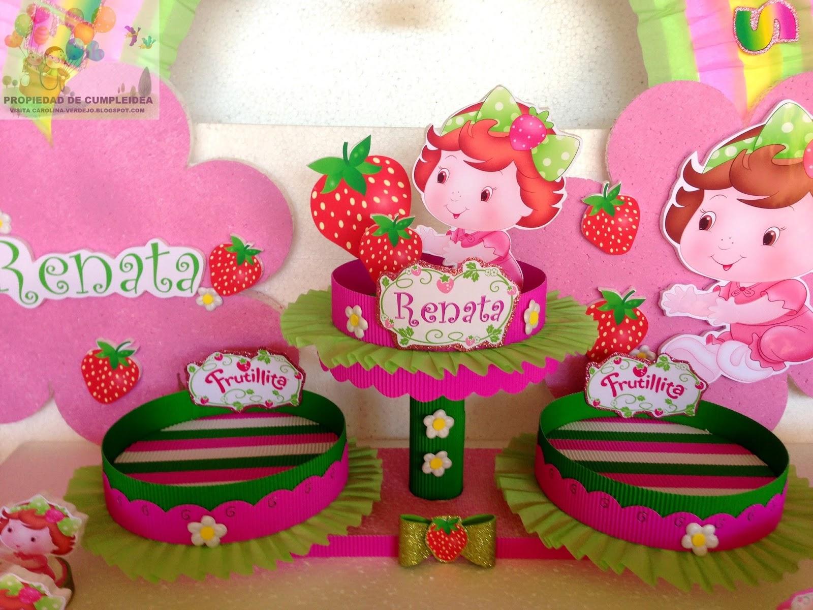 DECORACIONES INFANTILES: frutillita bebe