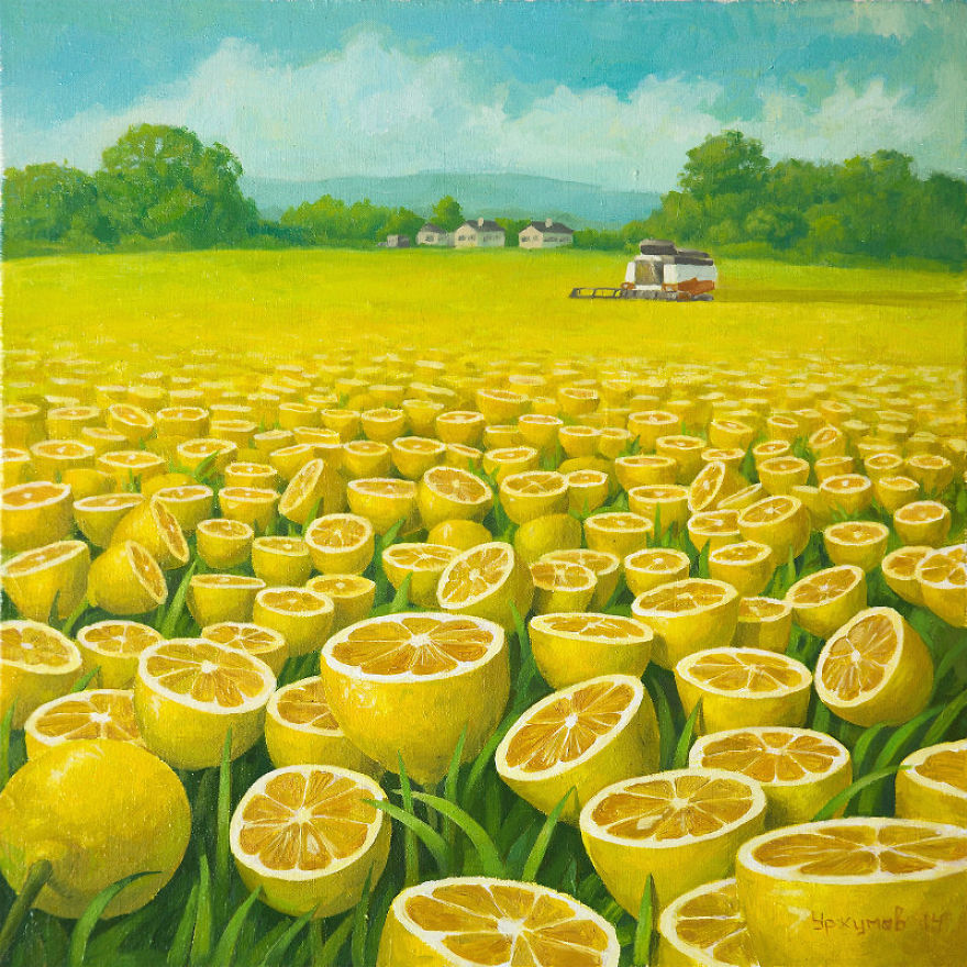 05-Harvest-Vitaly-Urzhumov-Surreal-Paintings-of-the-World-of-Lemons-and-More-www-designstack-co