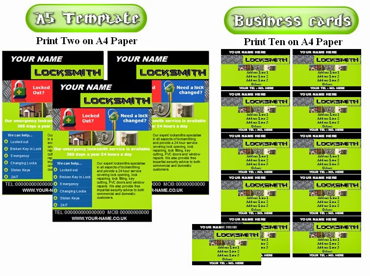 Locksmith leafletsflyerbusiness cards business start up pack we look forward to doing business with you soon colourmoves Choice Image