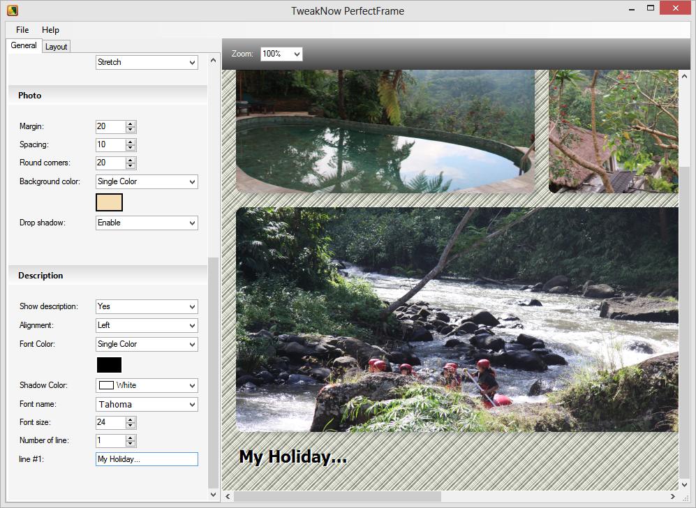 برنامج PerfectFrame لجمع أكثر من صورة في إطار واحد