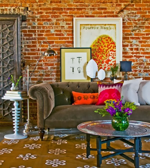 The studio m designs blog snapshot inspiration the for Eclectic living room design ideas