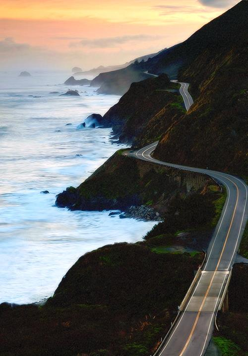Highway, California in United States