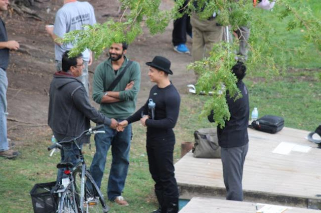 Dhoom 3 Shooting Photos - Big B, Aamir, Abhishek