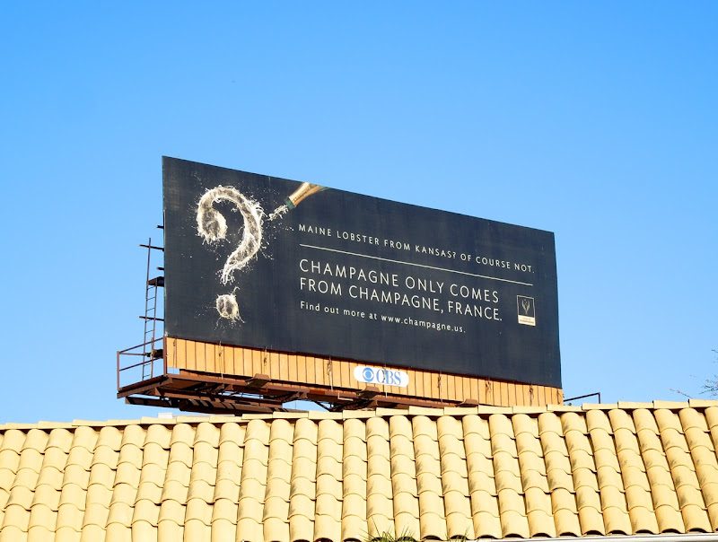 Champagne only comes from France billboard
