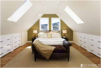 Color And Texture Great Design For Sloped Ceilings Or A Frame Rooms