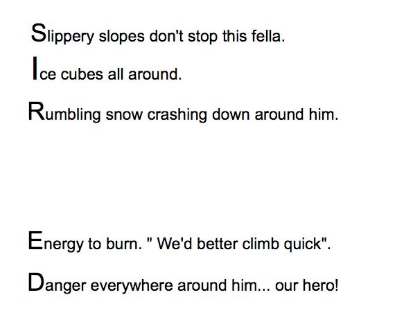 A class poem about Sir Edmund Hillary.
