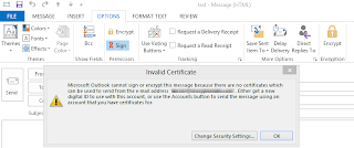 Installing email certificate in Outlook 2013