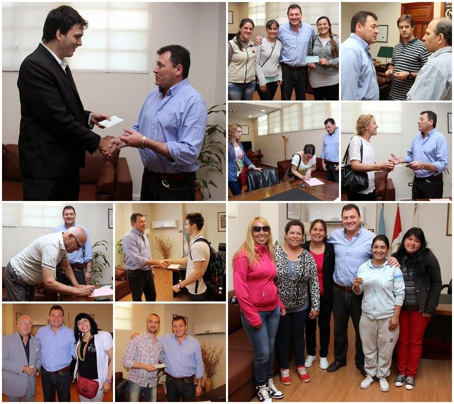 Raimundo entregó 57.500 pesos en ayudas a instituciones y deportistas