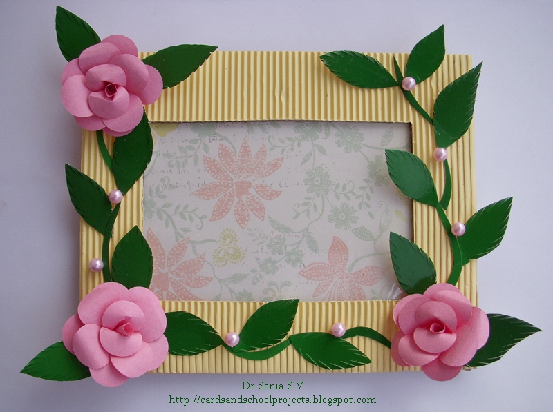 Card Making Craft Ideas Part - 17: DIY Photo Frame Tutorial