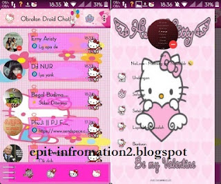 BBM DroidChat! Theme Hello Kitty V 2.9.0.45 APK + Clone