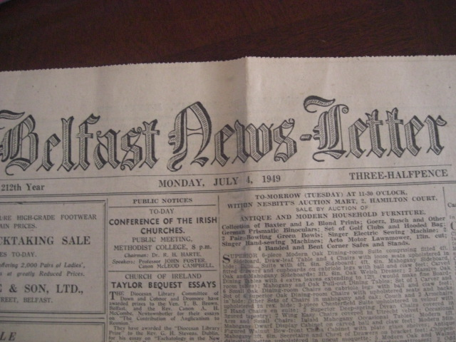 Belfast Newsletter 1949, Agnew's Ayrshire cow