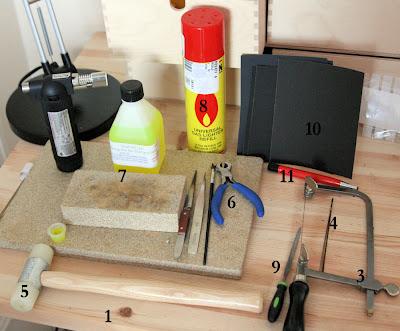 Essential basic silversmithing tools