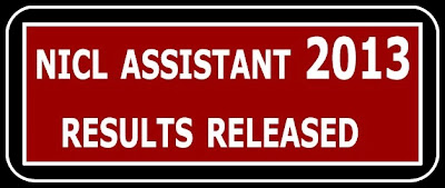 NICL Assistants 2013 Results Released Logo