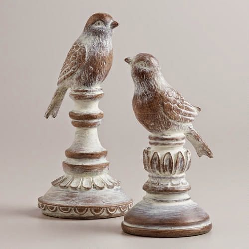 http://www.worldmarket.com/product/whitewash-wood-finish-bird-finials-set-of-2.do