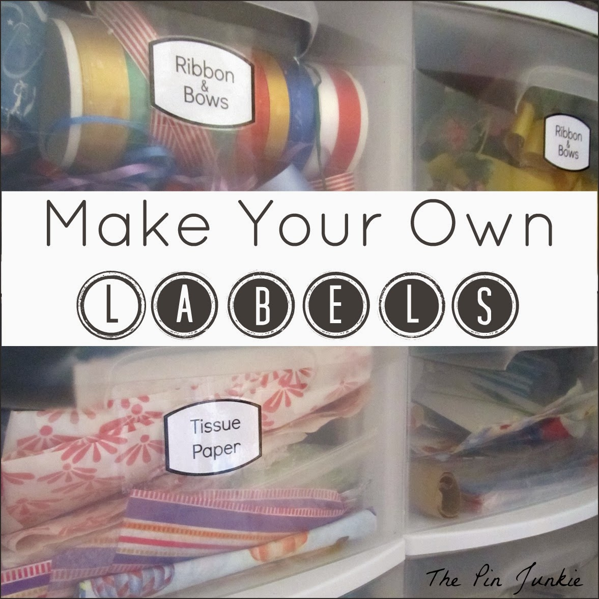 Make your own labels for How to print your own labels