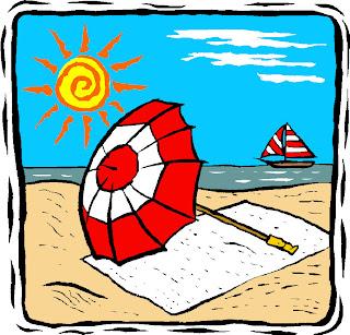Rio Dark Blue Sun Blocker Beach Umbrella - Beach Umbrellas