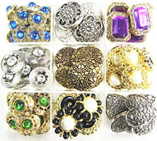 Antique buttons used to make handmade earrings, bracelets and necklaces in the Flirty Fashion Jewelry Studio