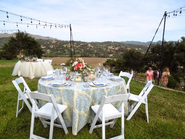 Wedding tables Casitas Estate