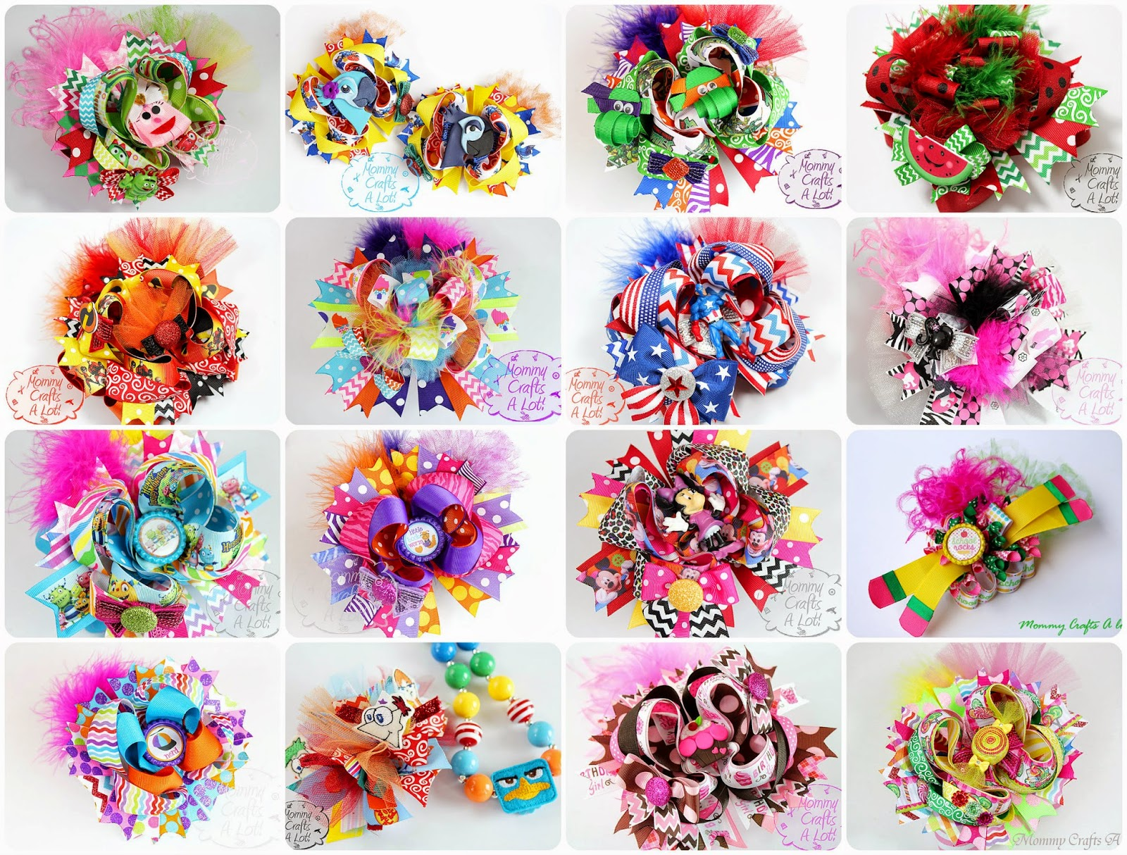 Mommycraftsalot hairbow tutorials how to make hairbows hairbow tutorials how to make hairbows baditri Image collections