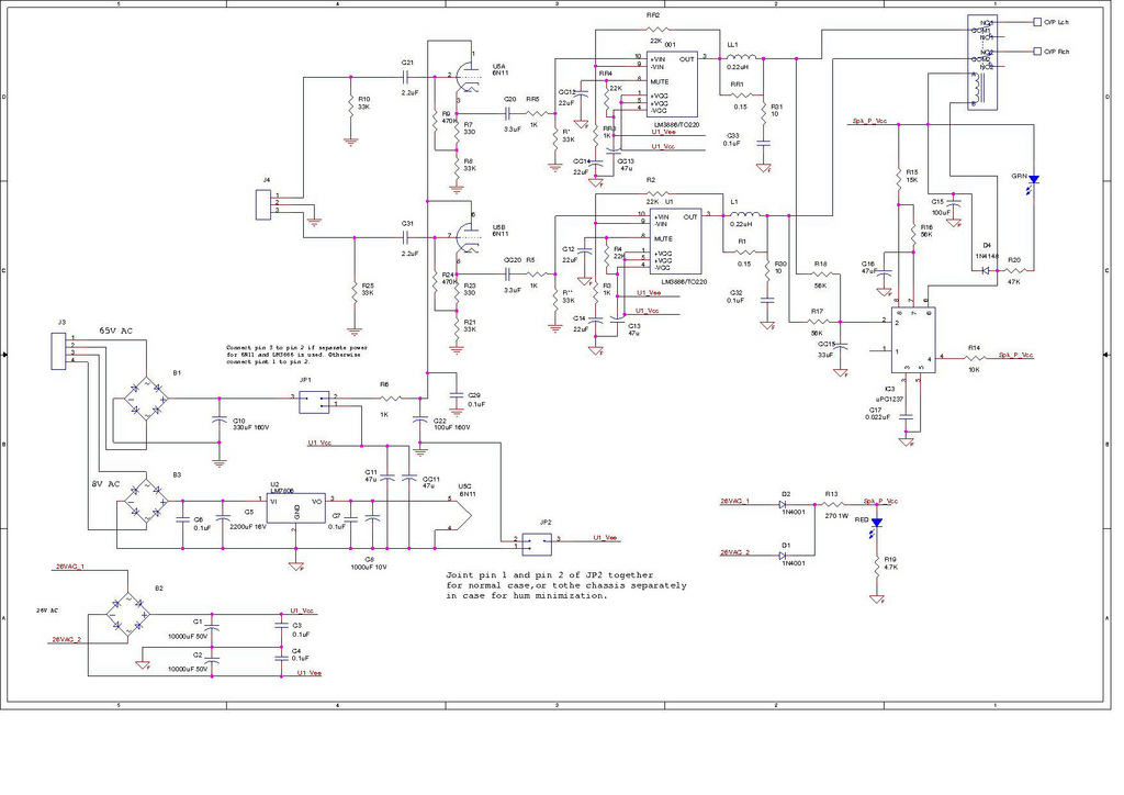 dj amplifier wiring diagram